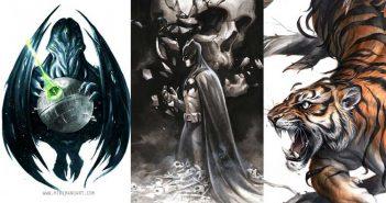 Wayne Hall, Wayne's Comics, Michael Manomivibul, tiger, Batman, social media, underwater, sea, sequential, Made2be2gether, IDW, Scholastic, Boston, Bangkok,