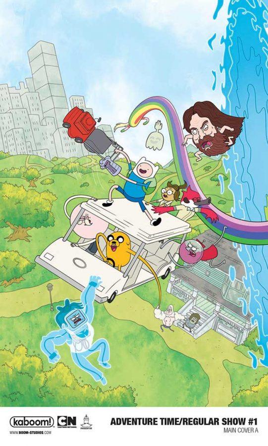 Adventure Time Regular Show Crossover