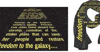 Star Wars Opening Crawl Scarves