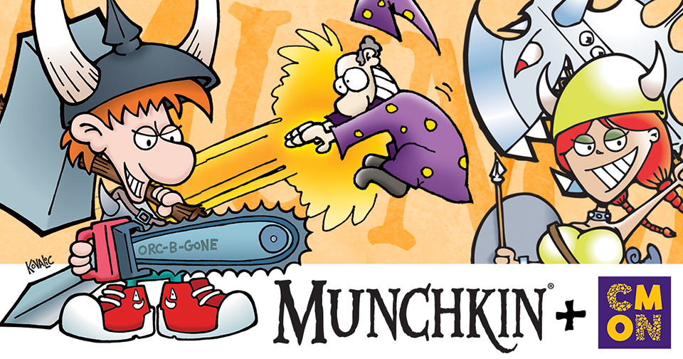 Steve Jackson Games and CMON team for Munchkin Board Games
