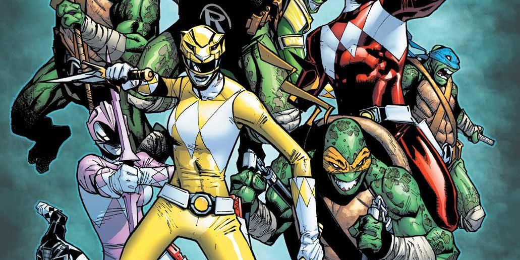 Humberto Ramos Variant Cover for Mighty Morphin Power Rangers Teenage Mutant Ninja Turtles #2