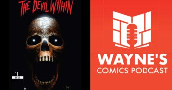 Wayne's Comics, Wayne Hall, demon, devil, Hex, Hector, Des, Desiree, skull, Halloween, horror, The Devil Within, Henry Ponciano, black and white, color,