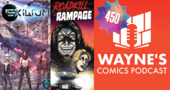 Wayne Hall, Wayne's Comics, HdE, Rodney Fyke, Roadkill Rampage, Kickstarter, Ace, Tess, raccoon, horror, Hazzum, Nia, Tr'u, Ken, Brazil, Exilium, Latin, science fiction, sci-fi, Earth