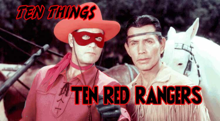 Ten Red Rangers Ten Things