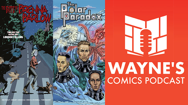 Wayne Hall, Wayne's Comics, Brenna Barlow, Rob Stanley, vampire, telepath, blind, Frank Martin, Polar Paradox, scientist, Antarctica, rescue, divers, Kickstarter, Gary, dachshund,