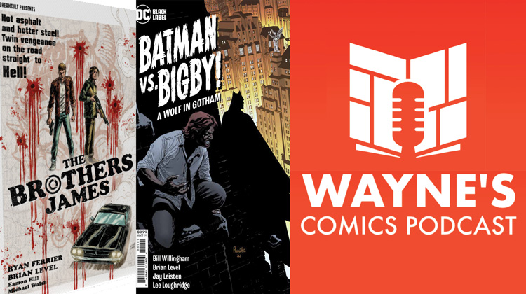 Wayne Hall, Wayne's Comics, The Brothers James, zoop.gg, Batman vs. Bigby, DC Comics, Brian Level, Ryan Ferrier, Fables, Bill Willingham, Jack, John, Lucky Devils, black and white,